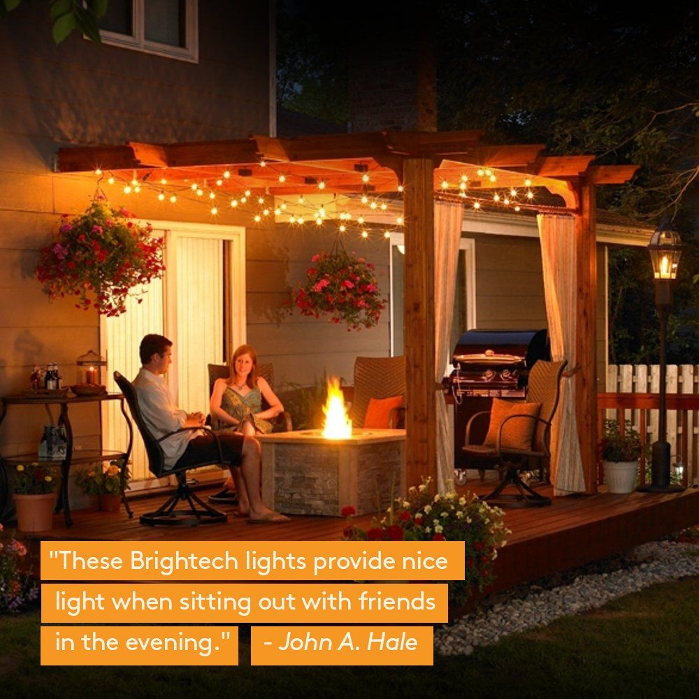 Brightech Ambience Pro Outdoor Globe Light Strand With G40