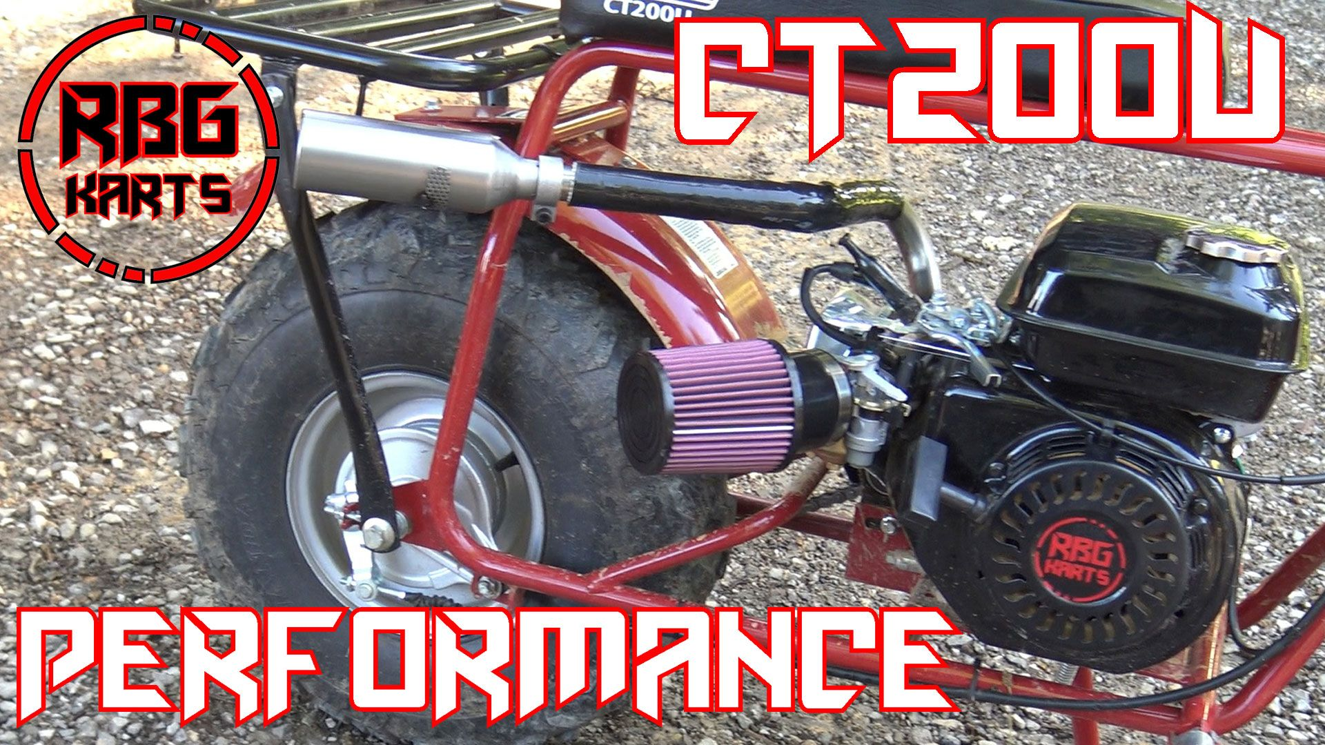 Red Beard S Garage Puts A Gopowersports Com Performance Kit On The Coleman Ct200u Mini Bike Gives A Review Check It Out On Mini Bike Bike Performance Parts