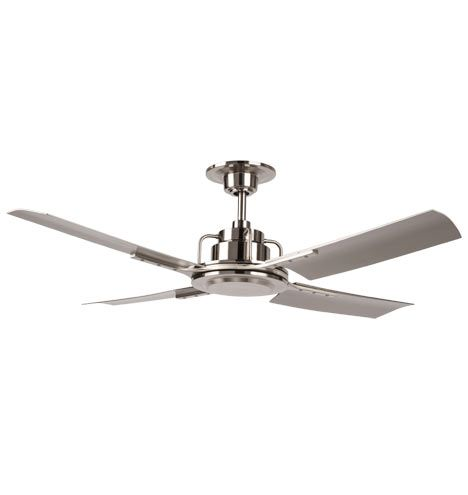 Peregrine Ceiling Fan Brushed Nickel Silver Blades
