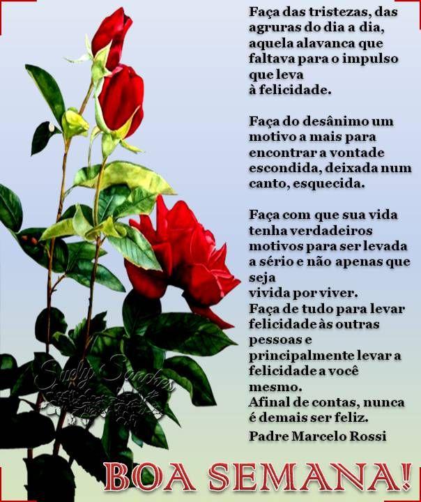 Cartao De Boa Semana Com Mensagem Do Padre Marcelo Rossi Com