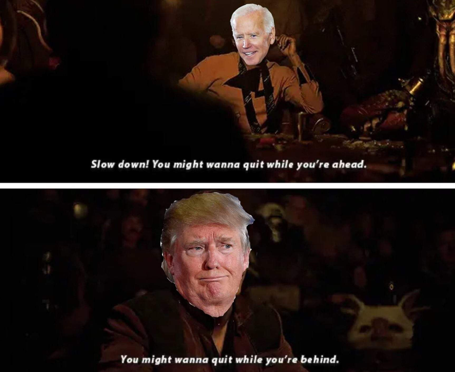 Pin By Darth Momo On Trump Biden Meme Solo A Star Wars Story War Stories Memes Movie Posters