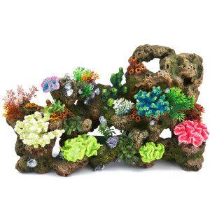 Top fin stone coral bubbler aquarium ornament for Petsmart fish decor