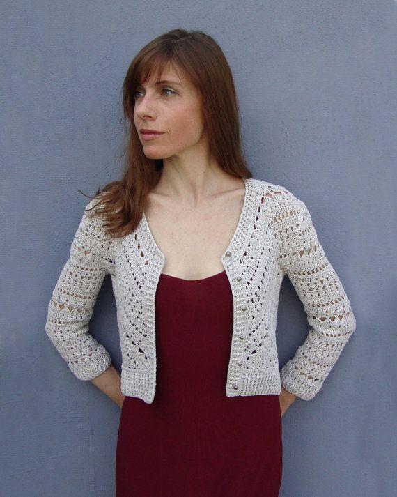 Crochet jacket PATTERN, crochet TUTORIAL in English, crop crochet ...