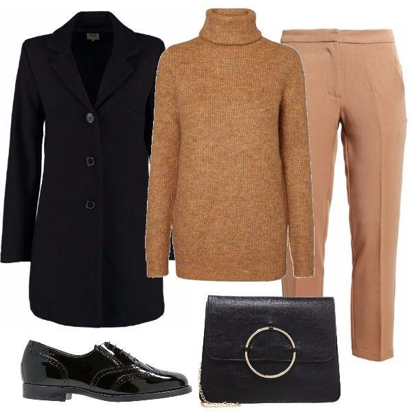 Abbigliamento sobrio ma curato  pantaloni color cammello f885f1f2658