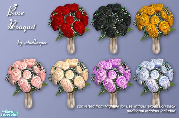 TS2 windkeeper's Rose Bouquet in 2020 Sims, Sims 4