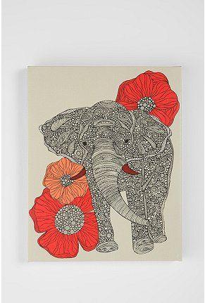 The Elephant Wall Art by Valentina Ramos
