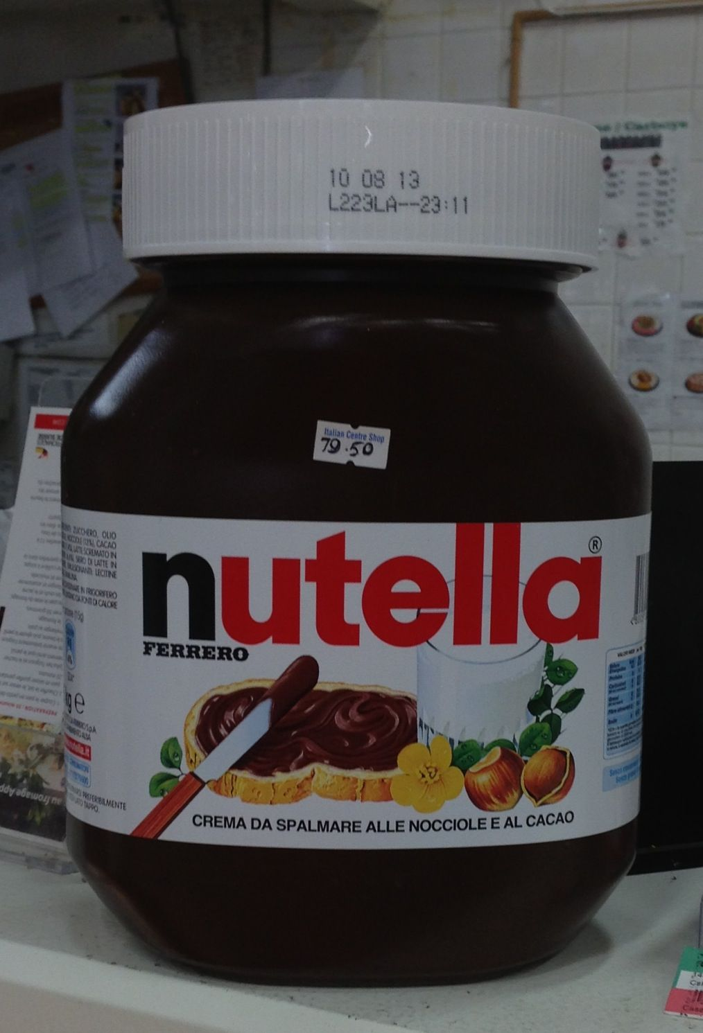 Biggest bottle of nutella at the italian centre in