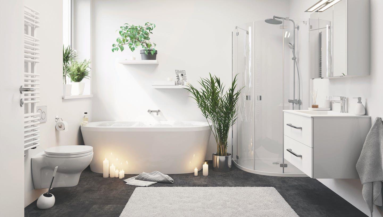 Was Kostet Ein Bad Kostenrechner Tipps Obi Bad Deko Grau Turkis Was Kost In 2020 Schone Badezimmer Badezimmer Schwarz Badezimmer Spiegelschrank Mit Beleuchtung