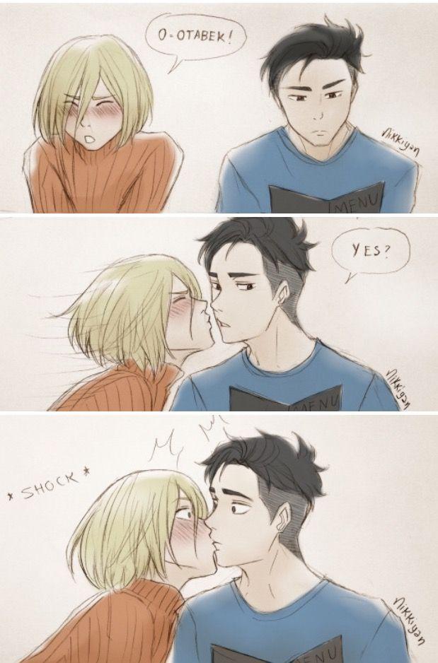 Christmas kiss part.2 Artist: Nikkyian | yuri!!! on ice | Pinterest ...