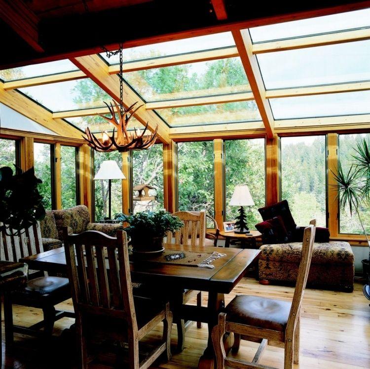 Wintergarten Holz Selber Bauen Tipps Landhausstil Alm Massivholzmoebel