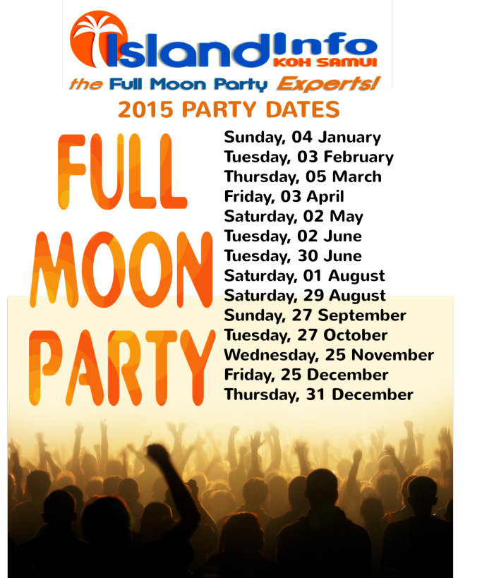 full moon party koh phangan dates