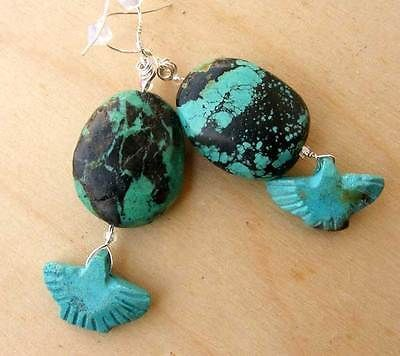 Lgl Handmade Lampwork Beads Sterling Silver Earrings Turquoise ERG1023 SRA | eBay