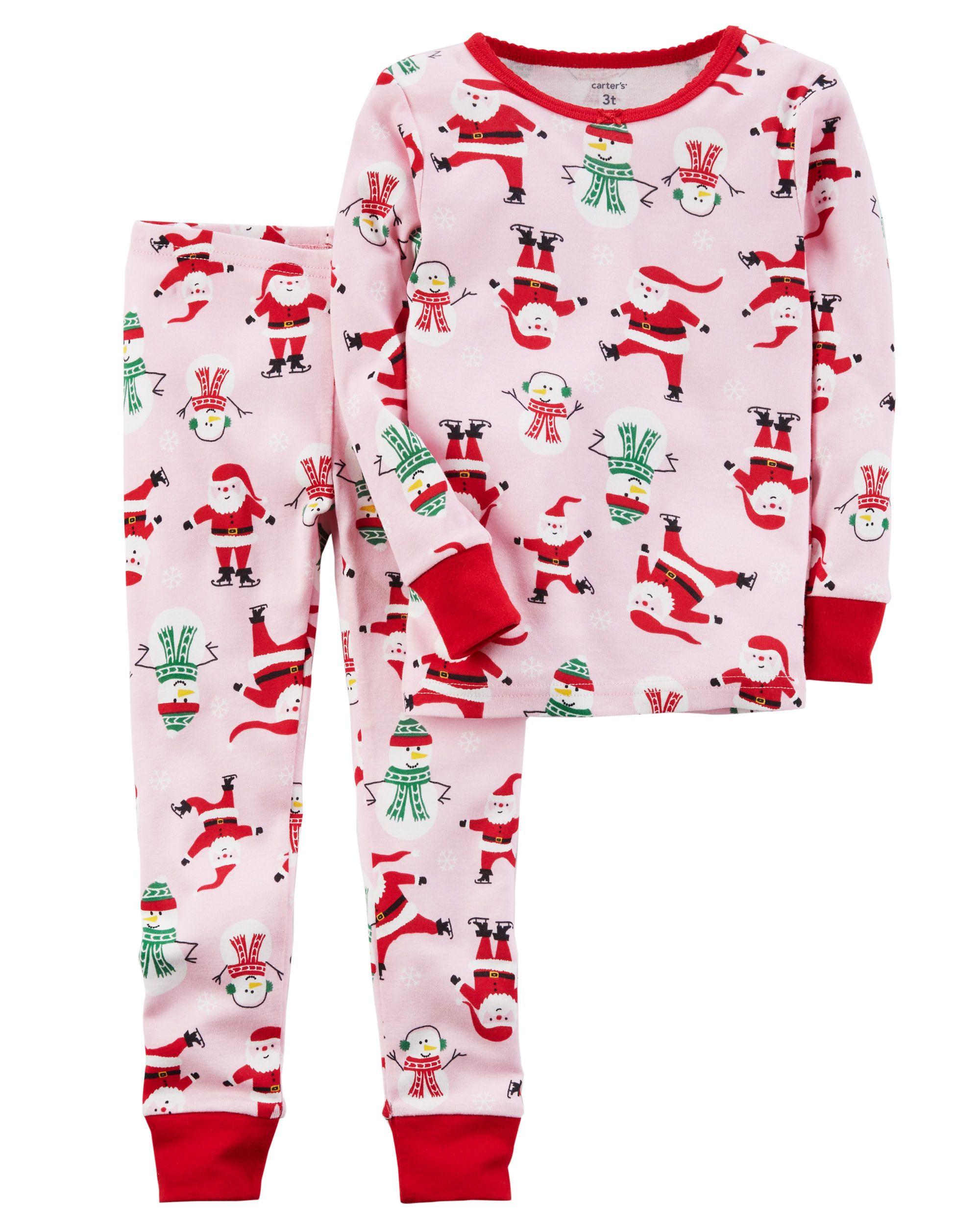 0d051900f0 2-Piece Christmas Snug Fit Cotton PJs