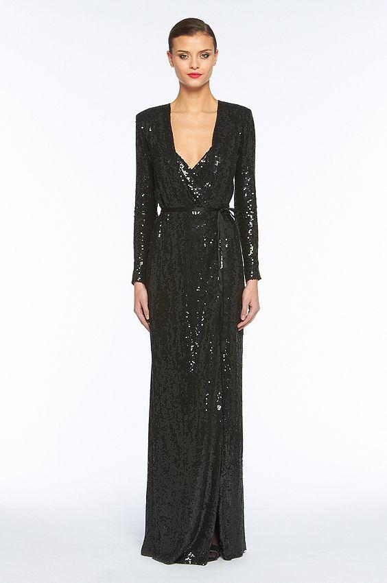 Diane von Furstenberg / DVF / Ariel Dress In Black Combining elegant ...