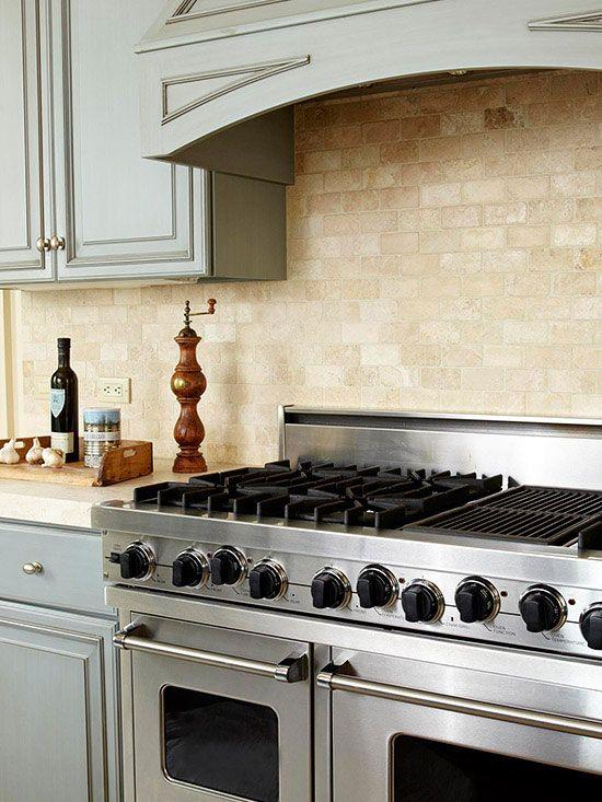 Stone Tile Backsplash French Country Kitchens French Country Kitchen Country Kitchen