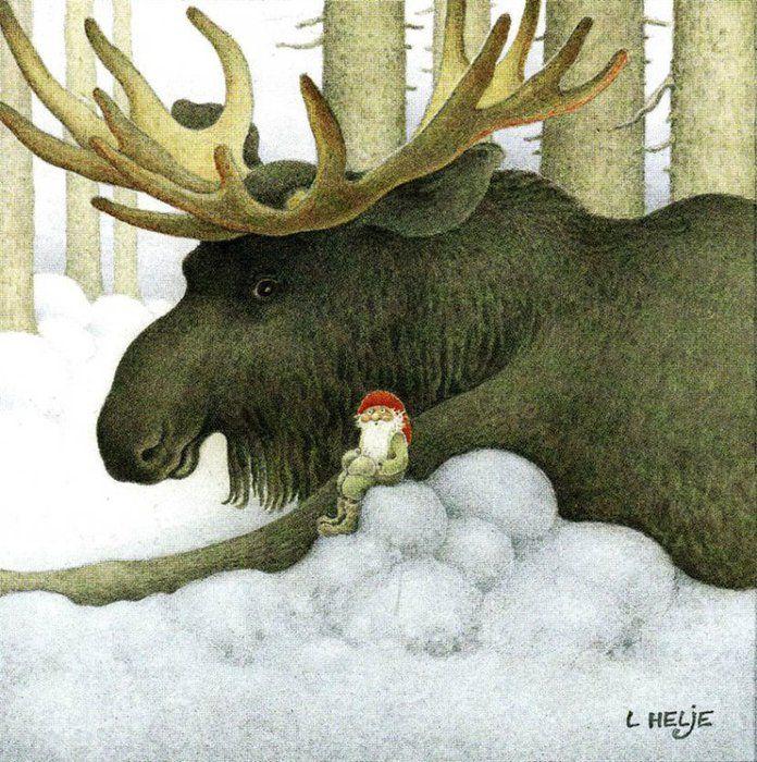 новогодние открытки с лосями предлагаю