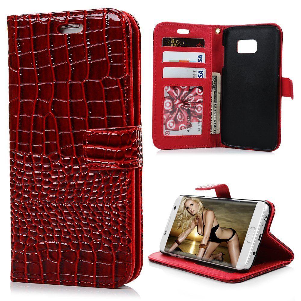 S7 Edge Case Samsung Galaxy S7 Edge Case Fancy Crocodile Pattern Premuim Pu Leather Wallet Samsung Galaxy S7 Edge Cases Leather Wallet Case Pu Leather Wallet