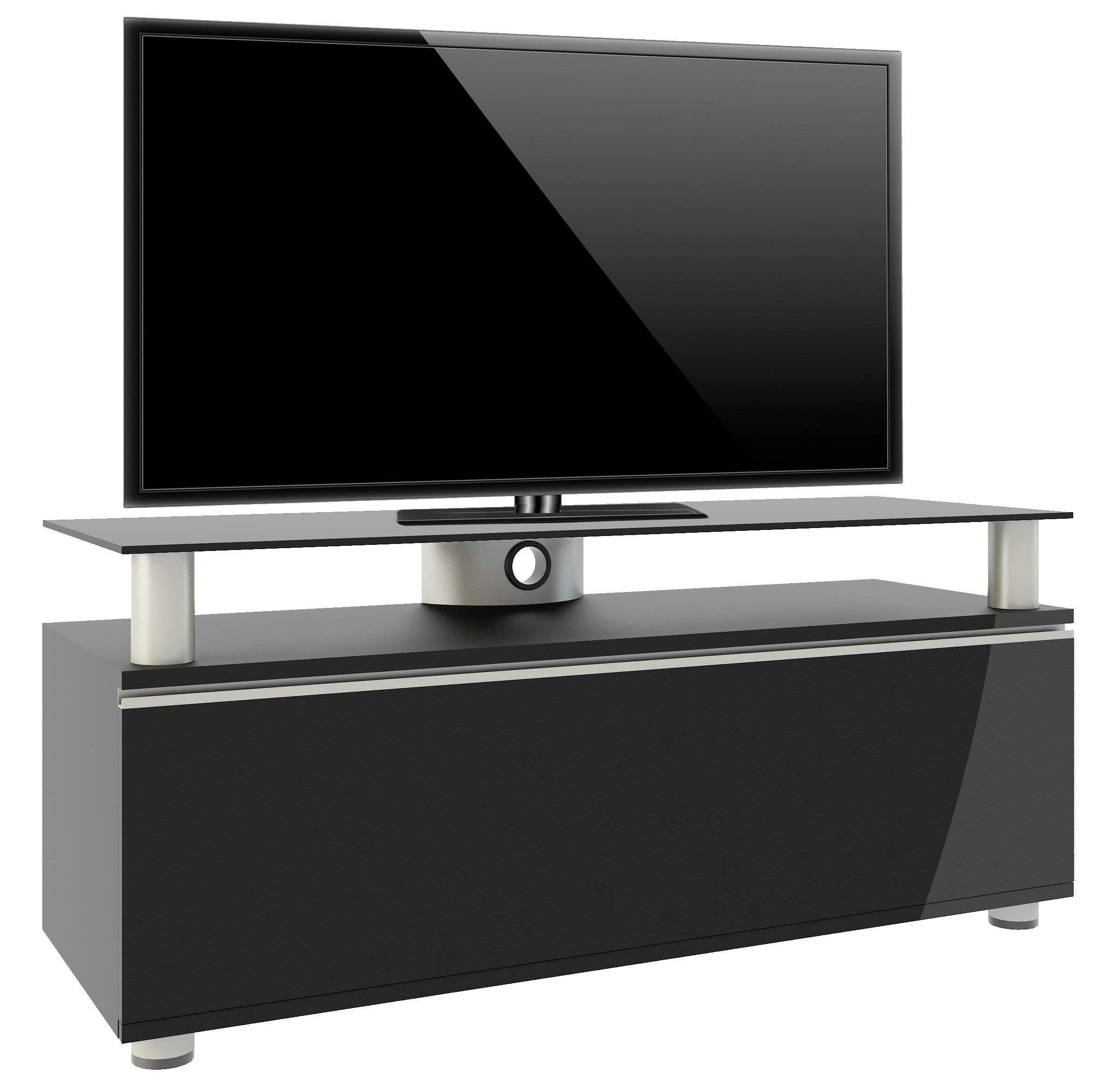 VCM TV Lowboard Schrank Tisch Fernseh Sideboard Rack Holz Schwarz Clano