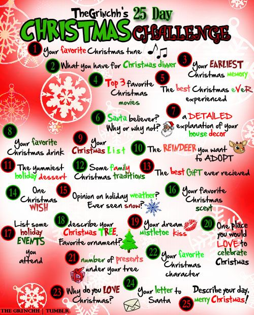 Christmas Challenge.The Grinchh S 25 Day Christmas Challenge Some Great