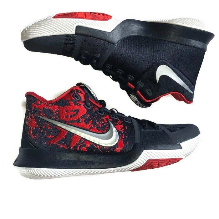 7744d9af4d8c Nike Kyrie 3 Samurai Christmas Mystery Release Size 10.5. 852395-900 Black  Red  shoes  kicks  solecollector