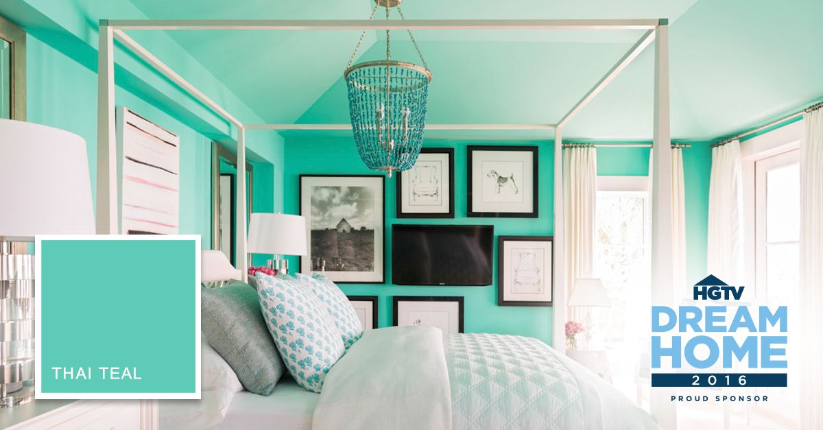 The #HGTVDreamHome 2016 Master Bedroom Is Painted In Our Color Thai Teal,  Which Feels