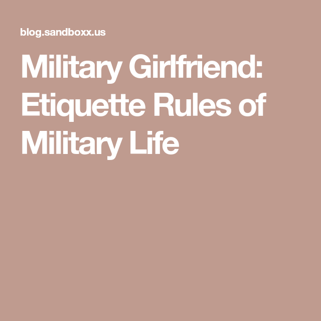 dating rules for military