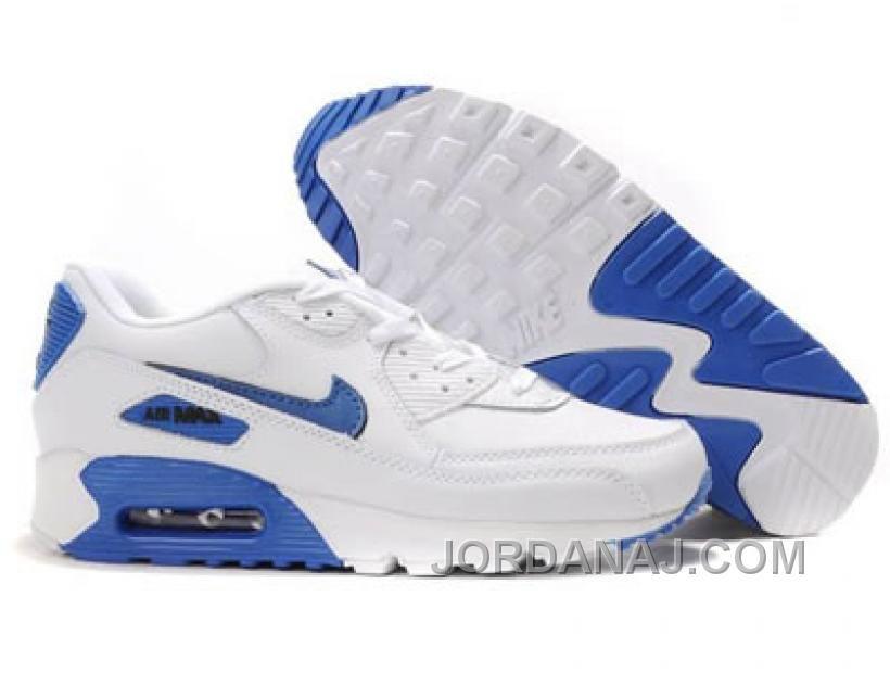 nike air max 90 white blue