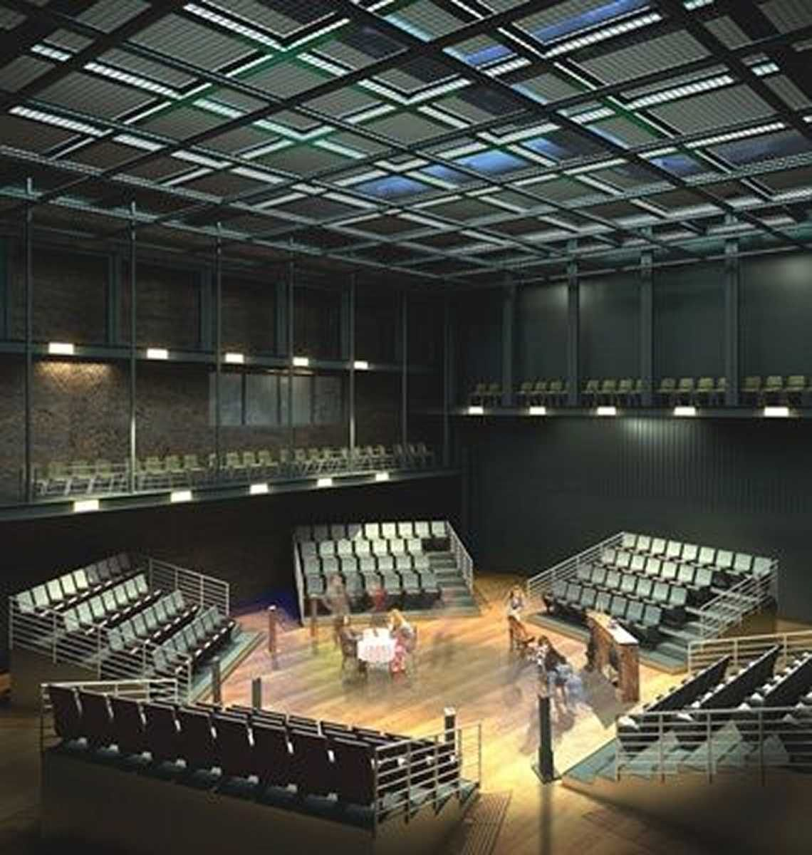 Center Stage Theater Architecture Flex Space Performance Theatre Architecture Theater