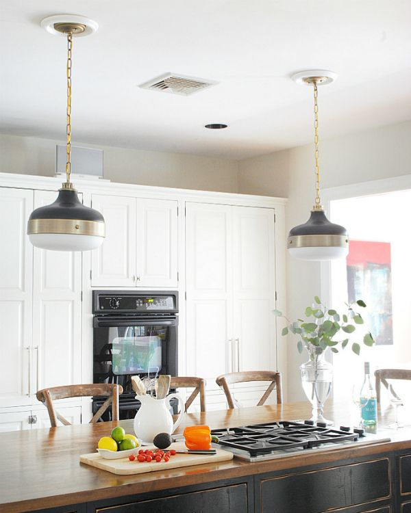 New Kitchen Pendants Pinterest Kitchen Pendant Lighting Gold - Gold kitchen pendant lights