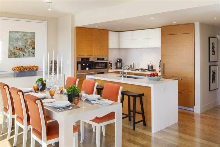 Cocina y comedor juntos casa pinterest comedores for Cocina y lavadero integrados