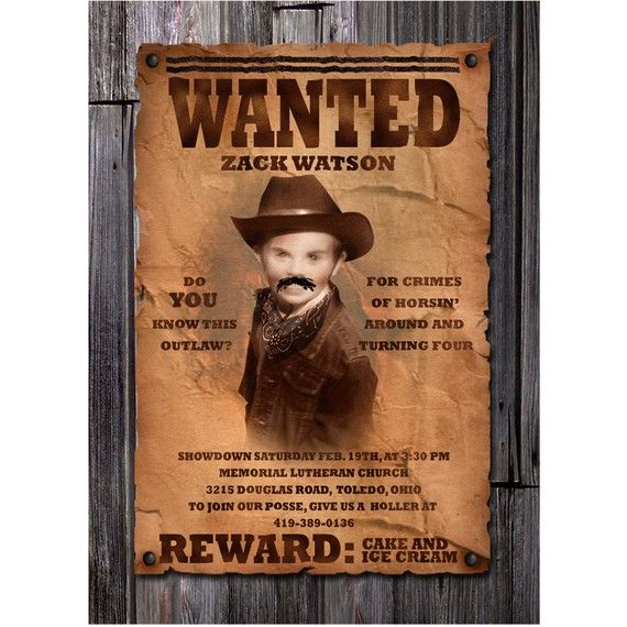 17 Best images about Wanted Poster Ideas – Wanted Invitation