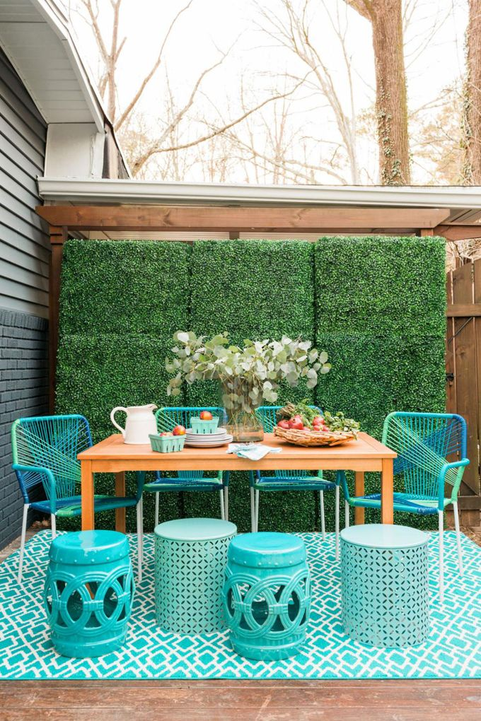 HGTV Spring House 2016 | Patio decorating ideas on a ... on Uncovered Patio Ideas id=77212