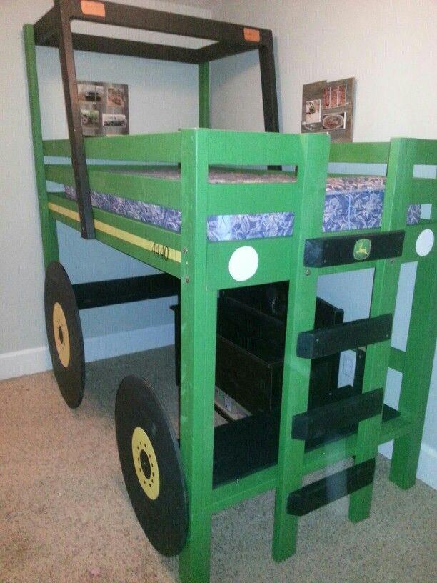 John Deere Loft Bed Built For My Grandson Kathi Kountry Krafts - John deere idees de decoration de chambre