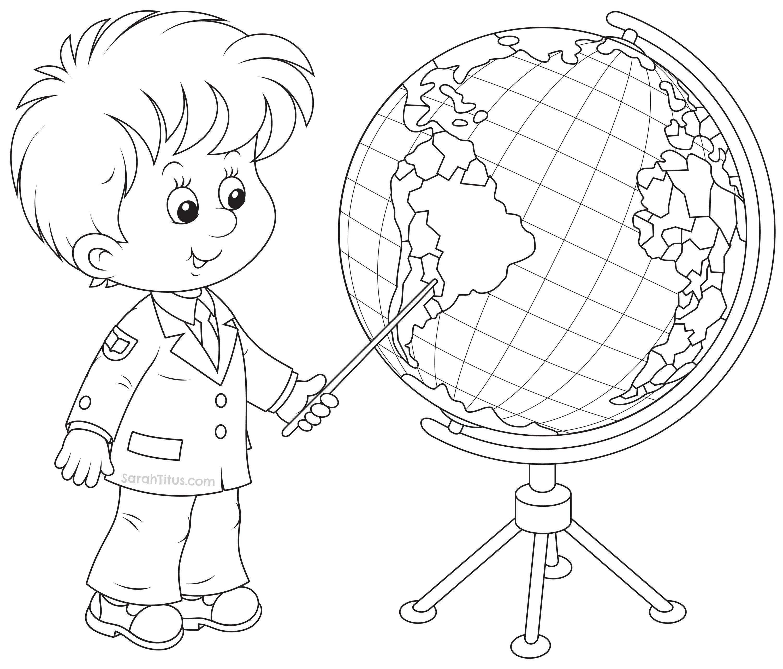 Back to School Coloring Pages | Geografía