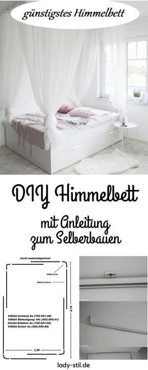 schönstes und günstigstes DIY Himmelbett - Anleitung zum Selberbauen
