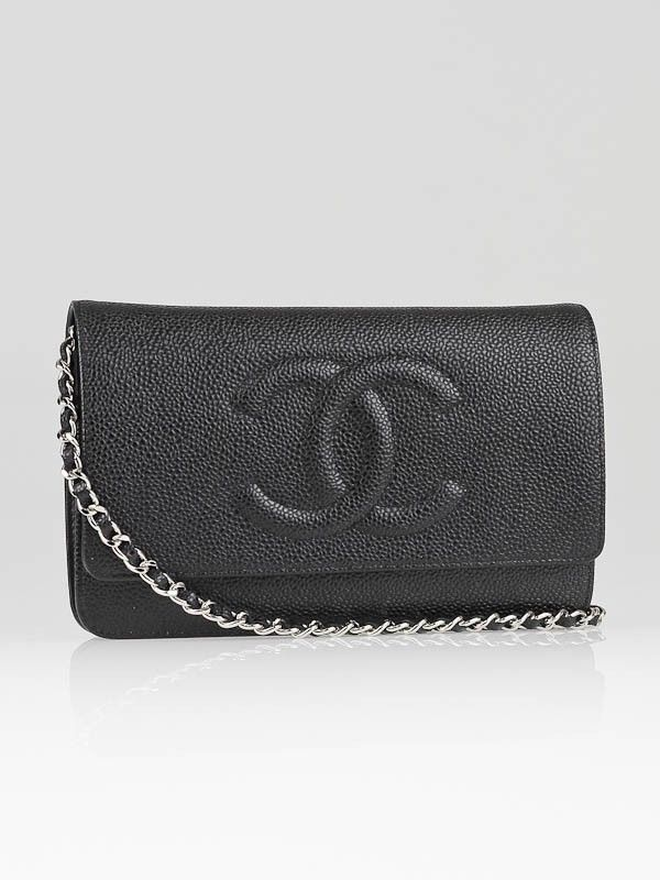 beeba3578b5c Chanel Black Caviar Leather CC Logo WOC Clutch Bag -- funds to help me save  up for this would be clutch