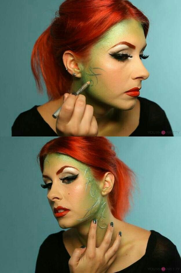 Poison Ivy Makeup Halloween Pinterest Poison Ivy