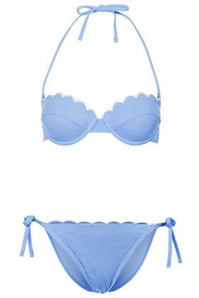 Cornflower Scallop Bikini Top and Pants Price for outfit:  	$24.00   						 						 						 						 						Price for outfit: 						 									 						$24.00