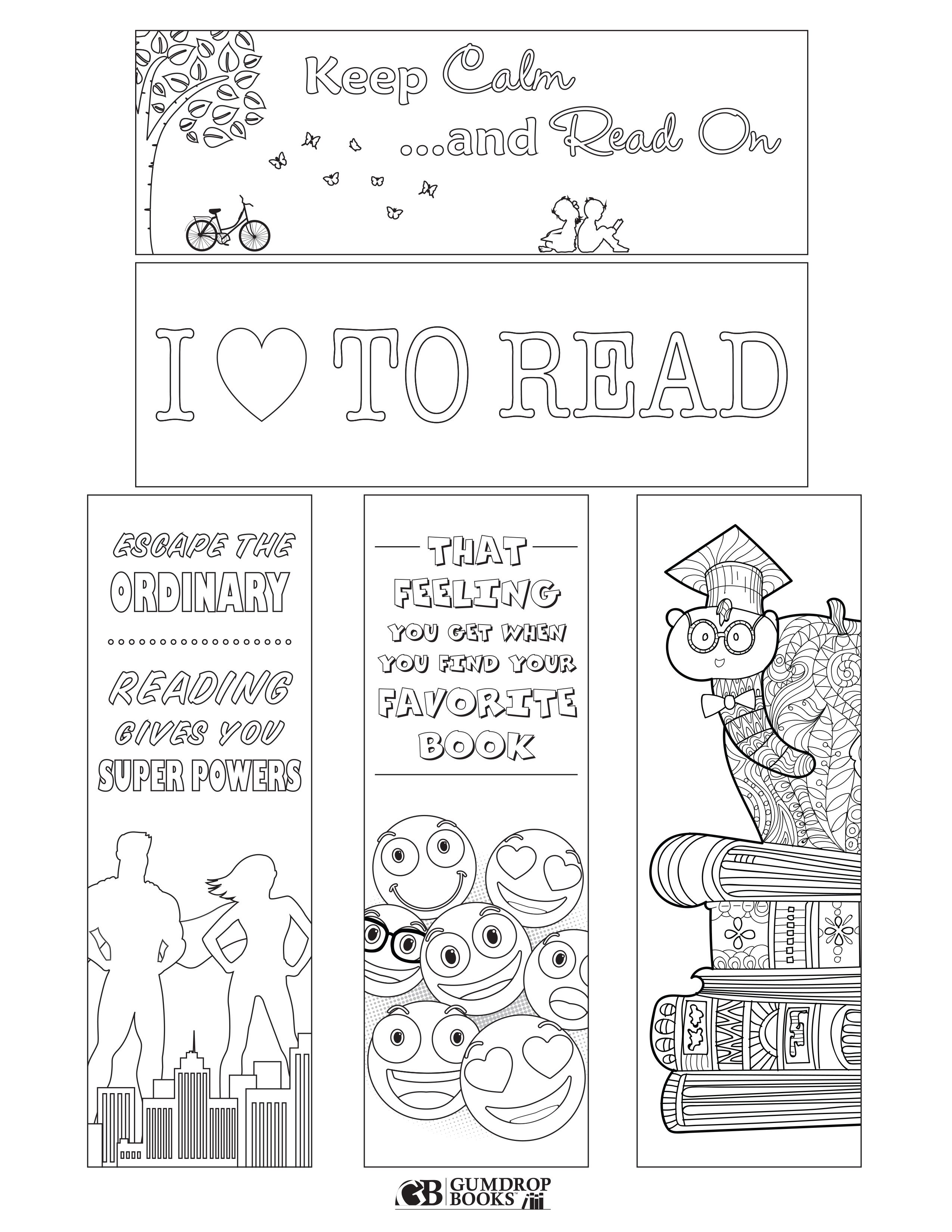 Free Printable Bookmarks From Gumdrop Books To Print Click On The Image To Make It Larger Then Free Printable Bookmarks Coloring Bookmarks Library Bookmarks [ 3300 x 2550 Pixel ]
