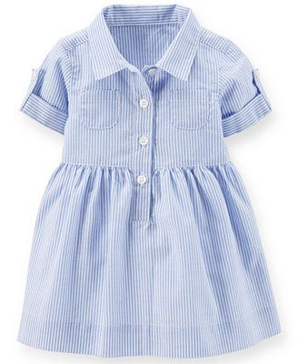 Carter's Baby Girls' Striped Shirtdress baby will be wearing