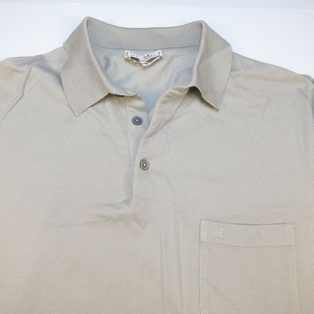 c77d3ffa Authentic HERMES Made in Italy POCKET POLO GOLF SHIRT Sz Mens XXL Tan  #HErmes #PoloRugby