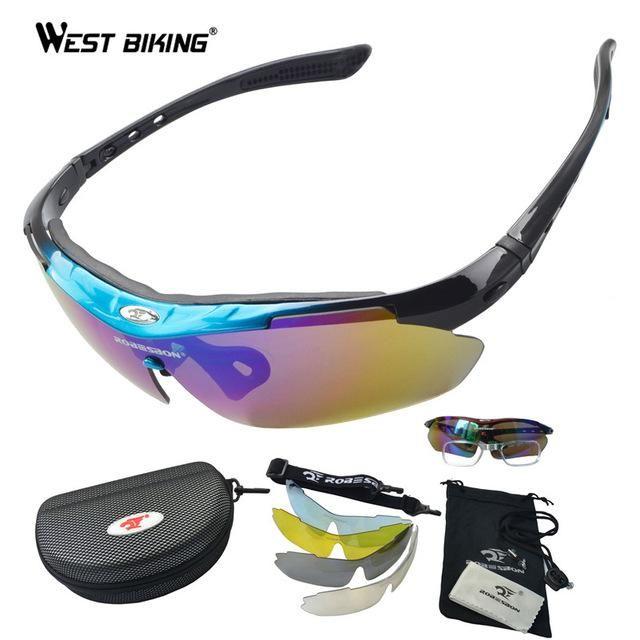 4aae396707 ROBESBON Polarized Sunglasses Set Outdoor Sports Eyewear Windproof Anti-UV  Climbing Cycling Goggle Pro Road MTB Bike Eyewear