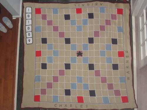 A Scrabble Afghan By Azabuey Made For Wedding Gift With The