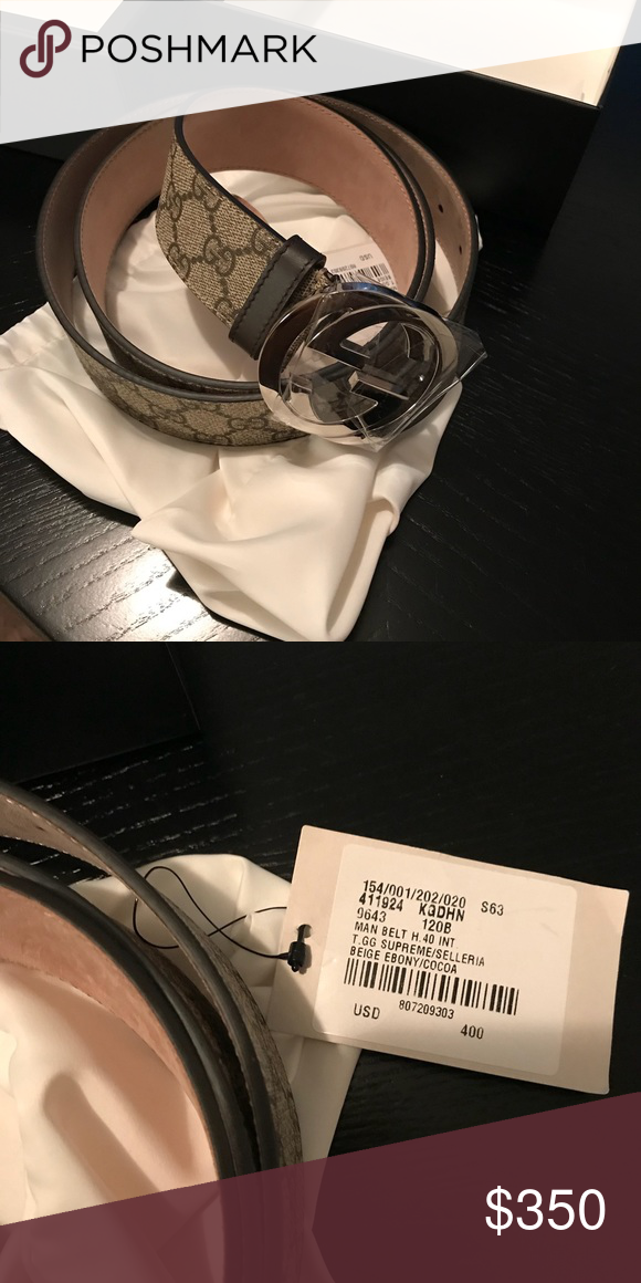 73e615f8f Authentic Gucci Belt (Men's) Men's belt brown and tan size 120. 100%  Authentic from Gucci store. Receipt available dust bag available Gucci  Accessories ...