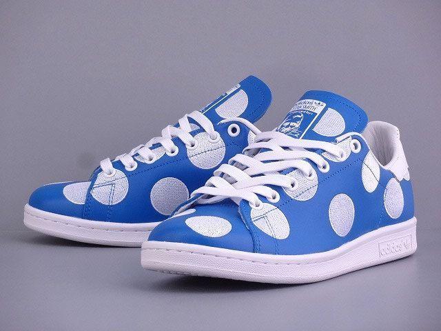 6252ca46e ADIDAS ORIGINALS X PHARRELL PW STAN SMITH BPD BLUE WHITE B25398 BIG POLKA  DOTS  adidas  AthleticSneakers