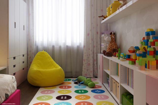 Amenajare Camera Montessori : Model de amenajare pentru o camera de fetita imaginea 1