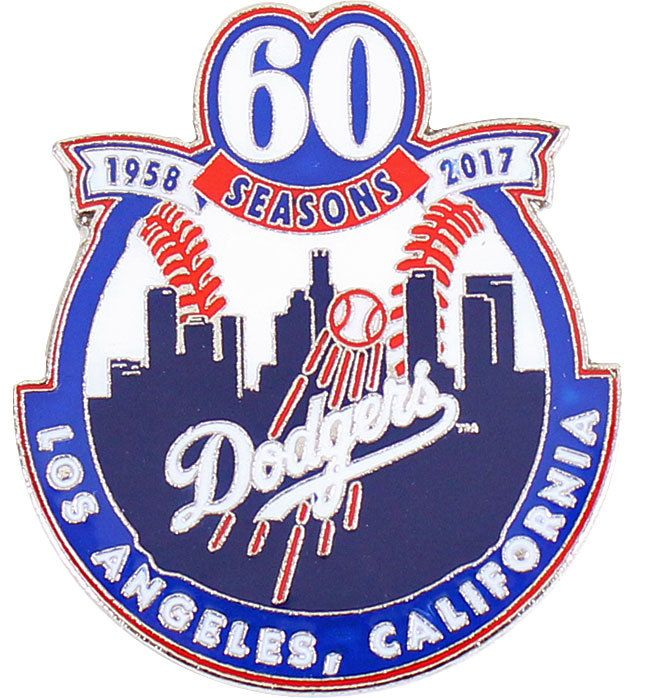 Dodgers 60th Anniversary In Los Angeles Commemorative Pin - Limited ... 85ebe5556dd