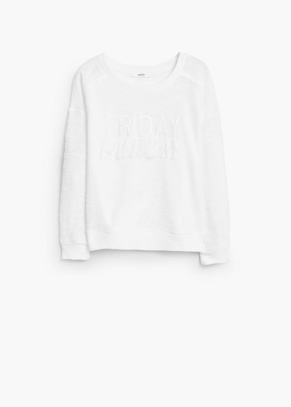 Sweat-shirt broderie texturée