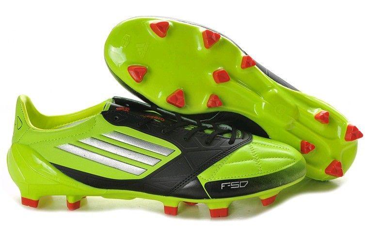 7f9e3dc3e1c Adidas F50 Adizero TRX FG Leather Firm Ground Mens Soccer Cleats(Slime  Metallic Silver Black)