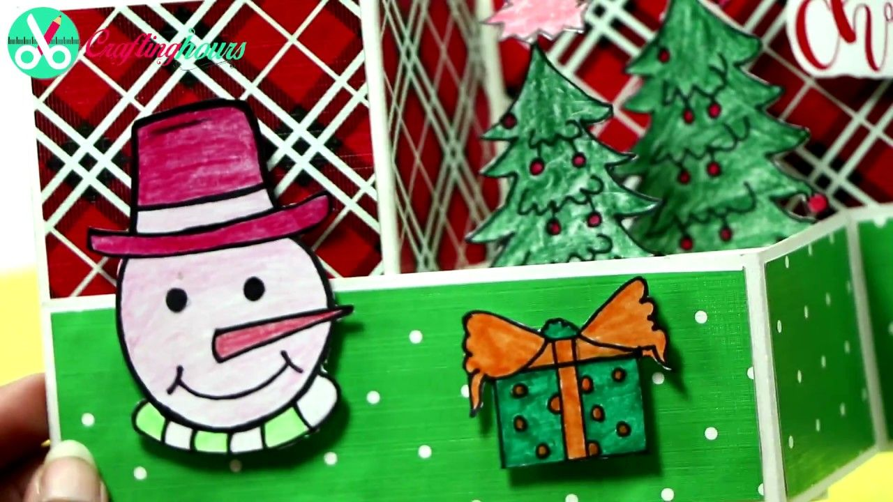 Z-Fold 3D Popup Christmas Greeting Card Making Idea | Manualidades ...